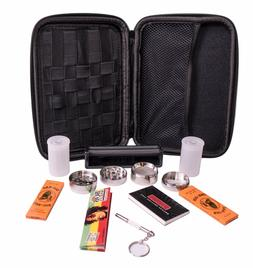 Perfect Pregame Smoker's Kit - 10 Piece Carrying Case and Ac