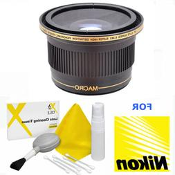 XIT Photo 52MM 0.38x Fisheye Wide Angle Lens with Macro for