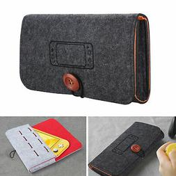 portable travel bag carry case felt pouch
