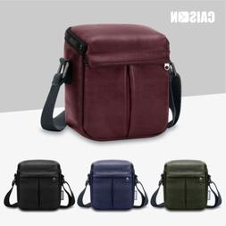 PU Leather Camera Shoulder Bag Case For SONY A6500 A6400 A63