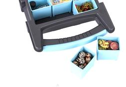 quick view carrying case with removable divider