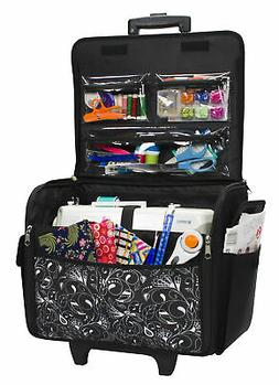 Rolling Sewing Machine Case Tote Carrying Bag Home Storage T