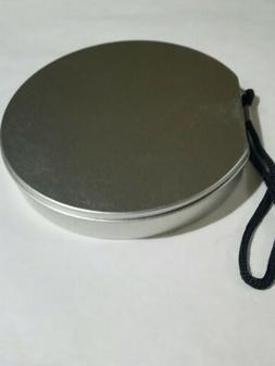 Round TIN CD DVD CASE - Carrying Case for 12 CD/DVDs w/ WRIS