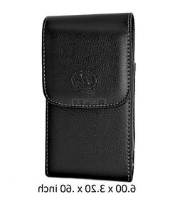 For Samsung Galaxy S6 HORIZONTAL Carrying Leather Pouch Case