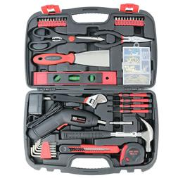 SAVWAY Household Hand Tool Set in Carrying Case Home/Garage/