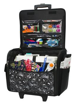 Sewing Machine Bag Tote Case 21 Storage Space Portable Rolli