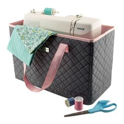 "Everything Mary  Sewing Machine Carry Tote-17""X8""X11"" Grey P"