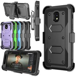 Cell Phone Shockproof Case With Belt Clip Kickstand + Screen