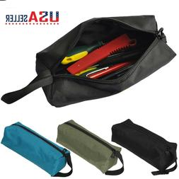 Small Metal Parts Tools Storage Bag Canvas Utility Pouch Car