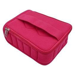 Soft 30 Bottles Essential Oil Carrying Case Holds for 5ml/10