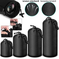 Soft Neoprene Lens Pouch Protective Carry Bag Case for DSLR
