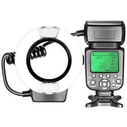Neewer TTL Macro Ring Flash Light with Adapterfor Canon DSLR