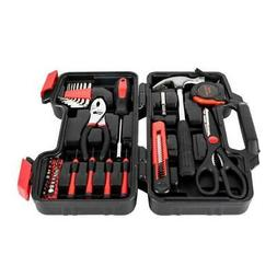 Universal 39 Piece Red Tool Set For General Homeowner Tools