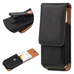 Leather Carrying Case for Apple iPhones - Premium Vertical H