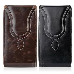 Vertical Leather Carrying Pouch Case Cover Belt Clip Holster