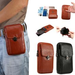 Vertical Leather Carrying Pouch Case Cover With Belt Holster