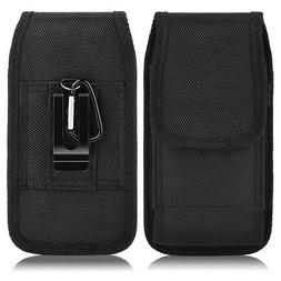 Luxmo Vertical Leather Carrying Pouch Case Holster with Belt
