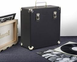 RETROUND VINTAGE STYLE VINYL RECORD CARRYING CASE LEATHER FO