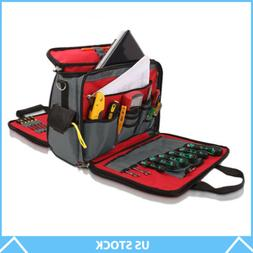 Wide-Mouthed Electrician Canvas Tool Bag Repair Kit Carrying