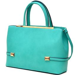 MKY Women Leather Tote Briefcase Laptop and Tablet Bag Large