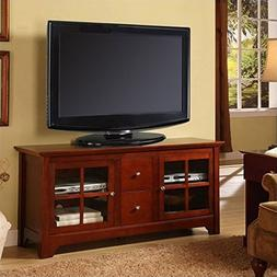 "Walker Edison 53"" Wood TV Stand Console with Storage Drawers"
