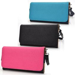 Wristlet phone carrying case