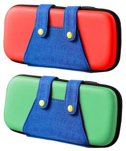 Zipper Bag Carrying Case With Denim For Nintendo Switch Cons